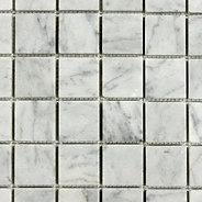 "Bianco Carrara: 2"" x 2"" Mosaic"