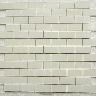 "Bianco Dolomiti 2"" x 8"" Brick Pattern thassos long island city"