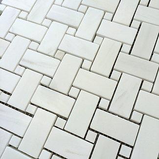 Bianco Dolomiti: Basketweave Mosaic